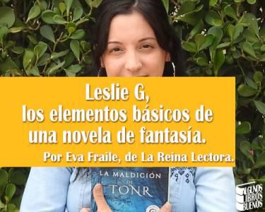 Leslie G, autora de La maldición de Tonr