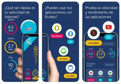 Pruebas de velocidad de conexión en smartphone con la app gratuita Meteor