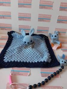 Set conejito azul