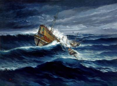 Sepultado en el mar