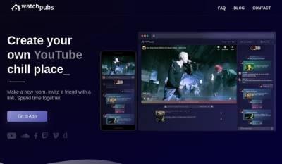 Watchpubs: crea salas de chat para ver vídeos de YouTube con tus amigos