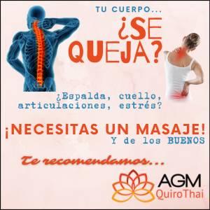¿Dolor de espalda, cuello? ¡Necesitas un buen masaje! Te recomiendo AGMQuiroThai