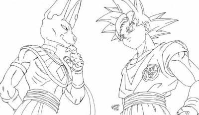 Dragon Ball Súper, Para Colorear