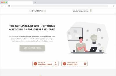 StartupDeck: cientos de recursos y herramientas para emprendedores