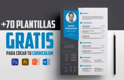 +70 plantillas para curriculum GRATIS (Psd, Word, PPT, Ai)