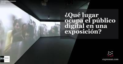 ¿Qué lugar ocupa el público digital en una exposición?
