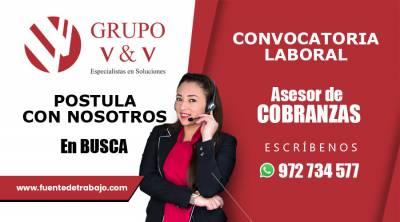 Asesor de Cobranzas Call center con experiencia en bancos