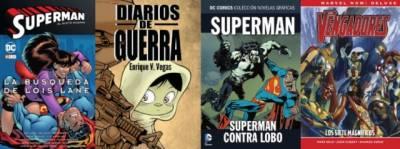Superman: La Búsqueda De Lois Lane, Diarios De Guerra, Superman Contra Lobo Y Los Vengadores: Los 7 Magníficos