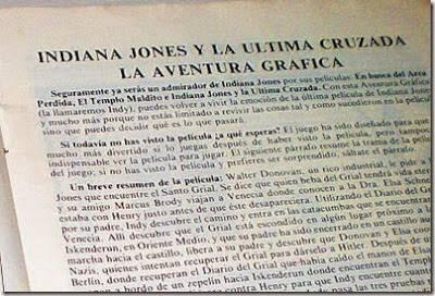 (XIII) Juegos de película en tu Amiga: Especial Indiana Jones