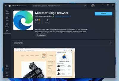 El navegador Microsoft Edge ahora está disponible en la tienda de Windows 11 rediseñada: