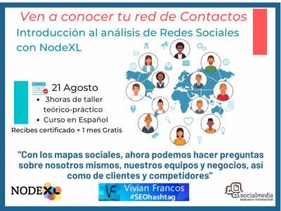 21 AGOSTO Nuevo EVENTO #AhoraNODEXLhablaEspañol Investigación de #RedesSociales: análisis semántico con #NodeXL