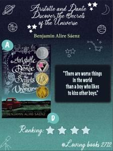 Opinión de :Aristotle and Dante discover the secrets of the universe de Benjamin Alire Sáenz