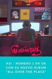 KSI - Número 1 en UK con su nuevo álbum 'All over the place' - Munduky