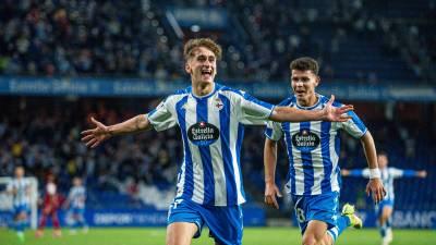 Tres canteranos del Deportivo de la Coruña debutaron contra el Celta B