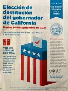 Elección de destitución del gobernador de California