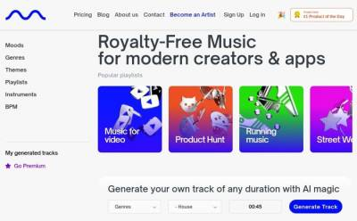 Mubert Render: generador en línea y gratuito de música para tus vídeos