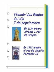 Cosas De Historia Y Arte: Efemérides Reales Del Día 7 De Septiembre