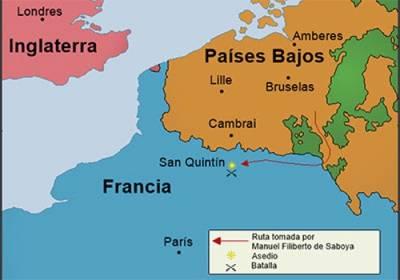 Cosas De Historia Y Arte: Batalla De San Quintín