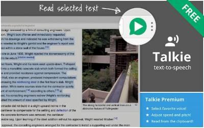 Talkie: la extensión para Chrome que te lee en voz alta páginas y artículos