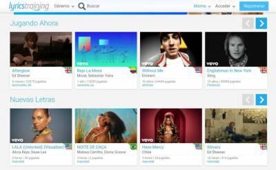 LyricsTraining: aprender y practicar idiomas gratis escuchando música
