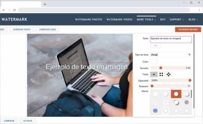 Añadir textos o marcas de agua a imágenes de forma gratuita y en línea