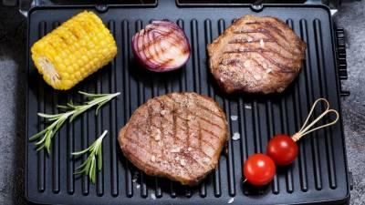 ¿Qué tipos de alimentos puedo cocinar en una parrilla eléctrica?