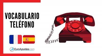 Teléfono Vocabulario Palabras Francés Español