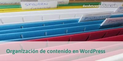 Organización de contenido en WordPress