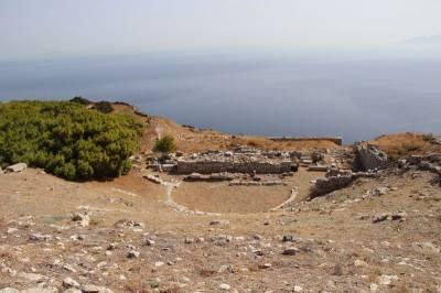 Antigua Thera, Grecia – Sobre el monte Messavouno