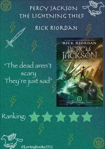 Opinión de:Percy Jackson and the Olimpians: The Lightning Thief de Rick Riordan