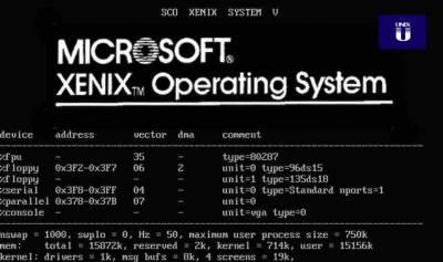 Xenix: El olvidado primer sistema operativo de microsoft