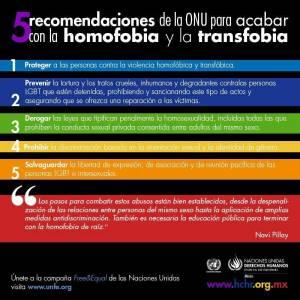 La homofobia, La transfobia matan y aurrinan vidas